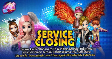Penutupan Layanan Audition Mobile  Indonesia
