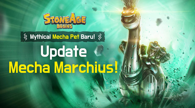 Stone Age Update: Sambut Mytical Pet Terbaru, Mecha Marchius!