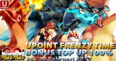 Kejutan PokePoke Go UPOINT Frenzy Time Bonus Top Up 100%, GOKIL ABIS