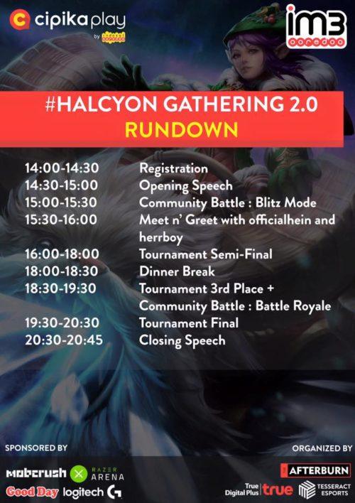 Ini dia Jadwal Keseruan Event HalcyonGathering 2.0 yang tidak boleh kamu lewatkan