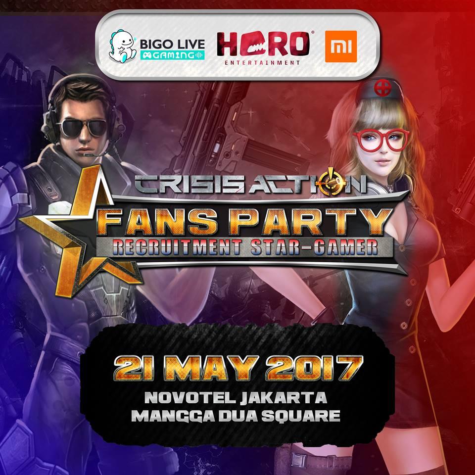 Crisis Action Gelar Fans Party di Jakarta