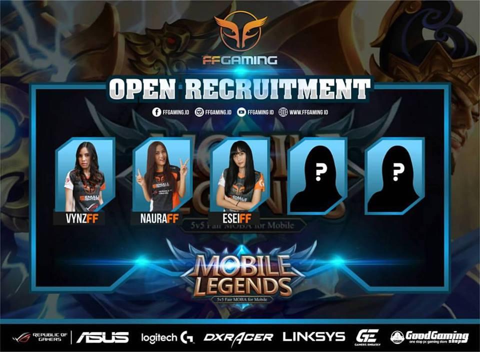Open Recruitment Divisi Mobile Legends oleh FFGaming, cek syaratnya disini