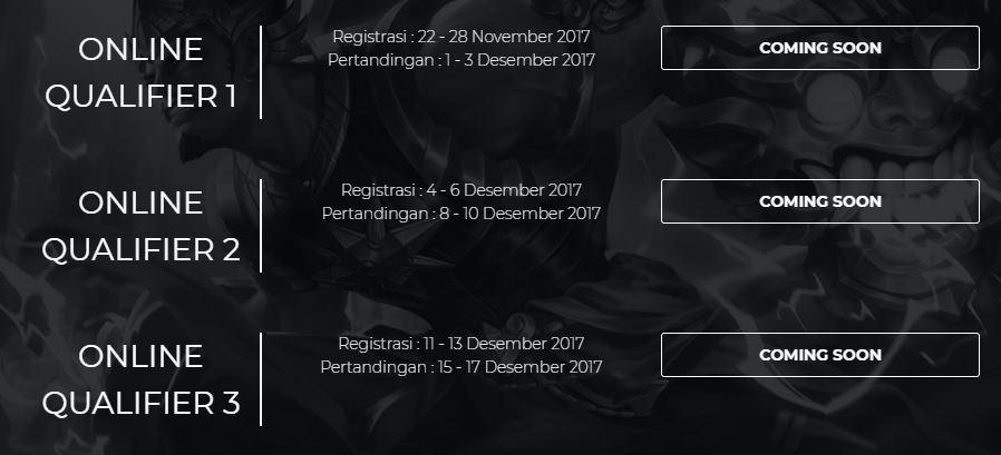 Ini dia Jadwal Online Qualifier Mobile Legends Pro-League dari Moonton