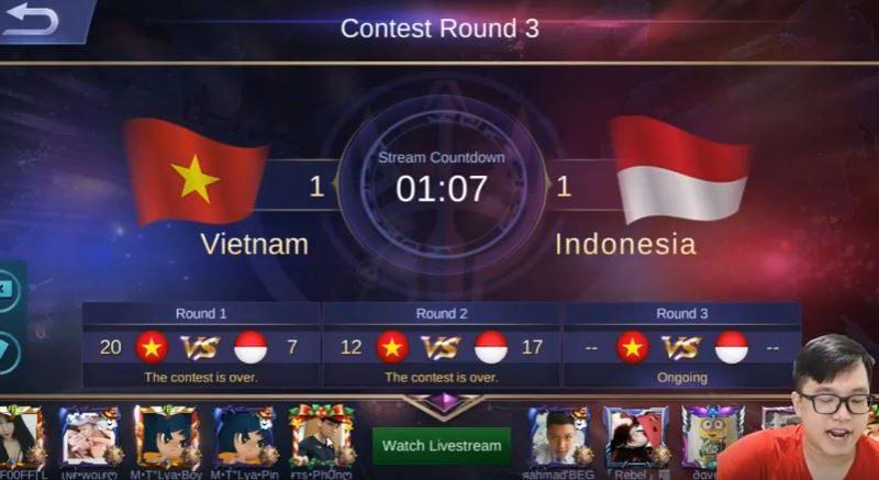 Benarkah Top Global Vietnam Cheat di Arena kontes Mobile Legends Melawan Indonesia