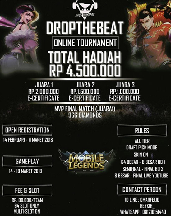 Turnament Mobile Legends : DROP THE BEAT S1