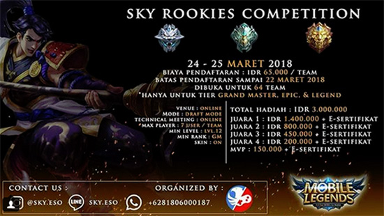 Turnamen Mobile Legends - SKY Rookies Competition