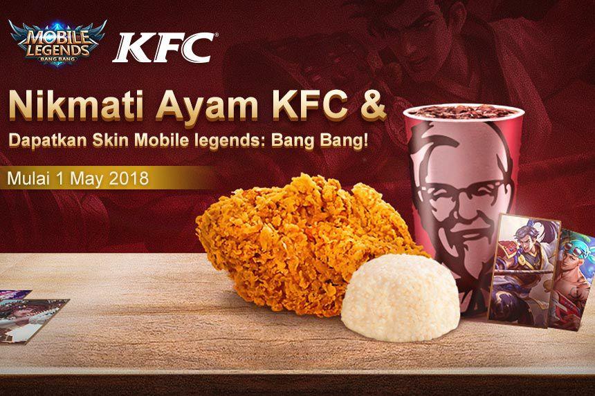 MOBA kok Ayam Goreng? KFC dan Mobile Legends Bagi-bagi skin di bulan Mei
