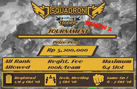Turnamen Mobile Legends - Squadron Tournament Season 2 Segera Hadir!