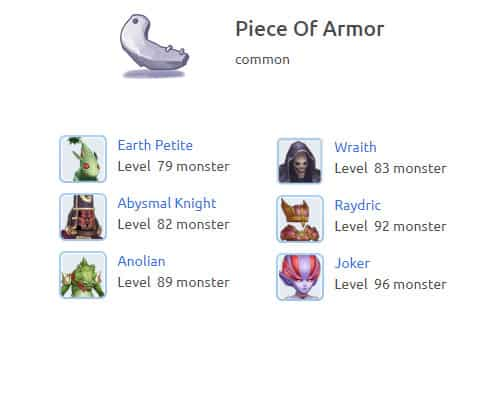 piece-of-armor ragnarok m eternal love
