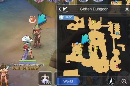 quest bard Geffen dungeon