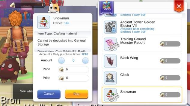 Cara Mendapat Snowman untuk Crafting Christmas Song Blueprint di Ragnarok Enternal Love Mobile