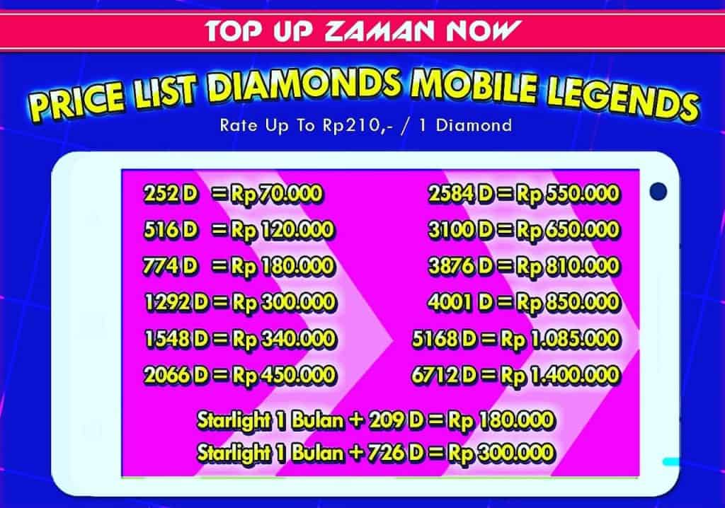 Beli Starlight & Diamond Mobile Legends Murah di Mobileague