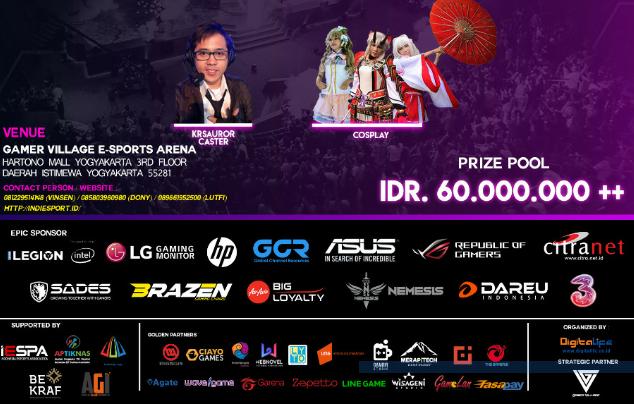 Gamer Merapat, GudangVoucher gelar event Esports Terbesar di Yogyakarta