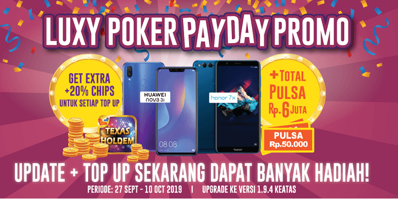 Luxy Poker PayDay Promo