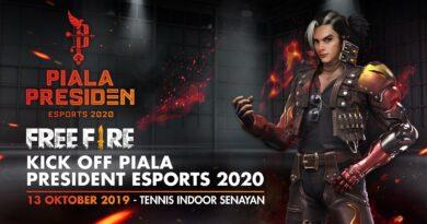 Keseruan Kick Off Piala Presiden Esports 2020 dan Grand Final Free Fire Shopee Indonesia Masters Season 2 di Tennis Indoor Senayan