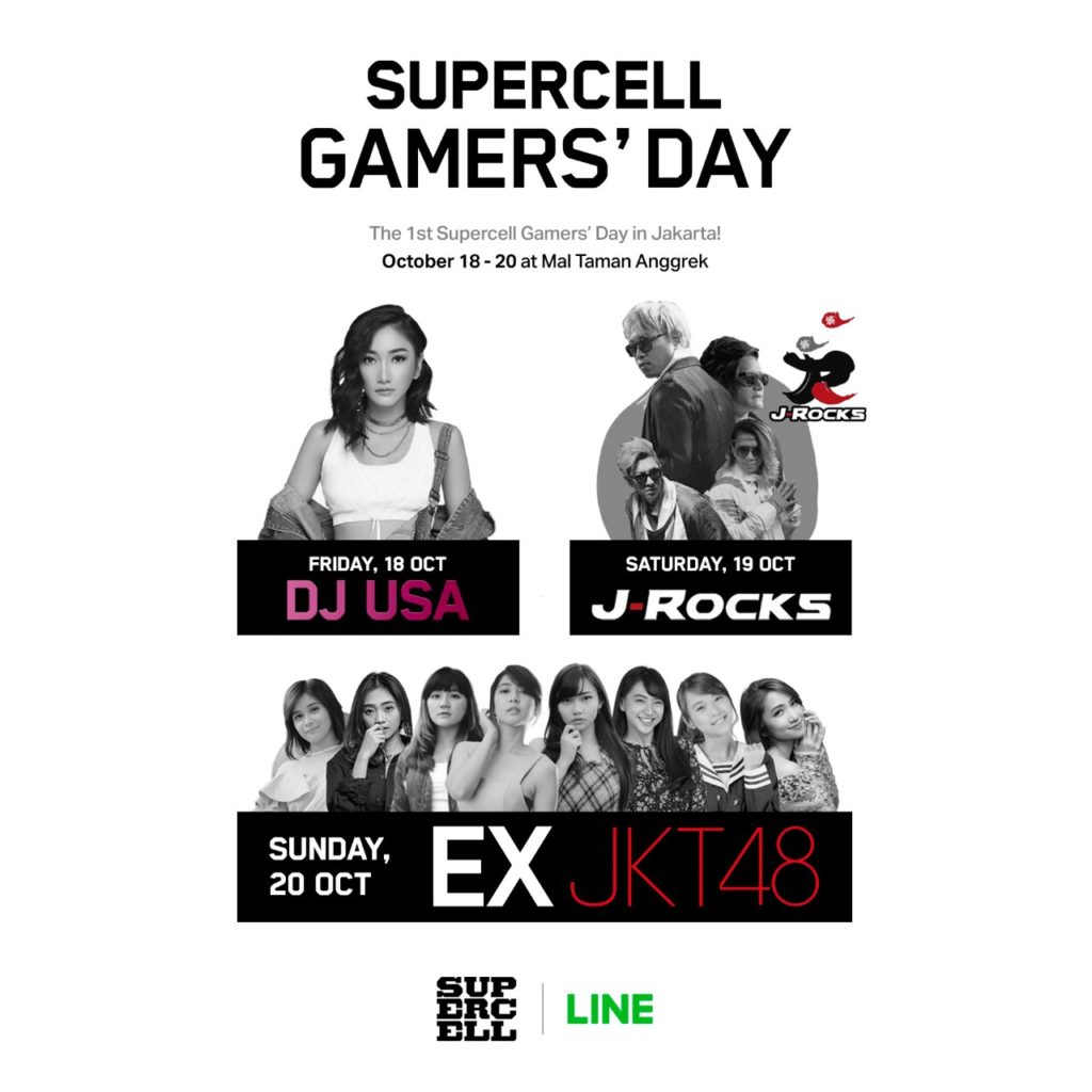 Bawa Pulang Ribuan Hadiah Menarik di Supercell Gamers Day Bersama LINE Indonesia