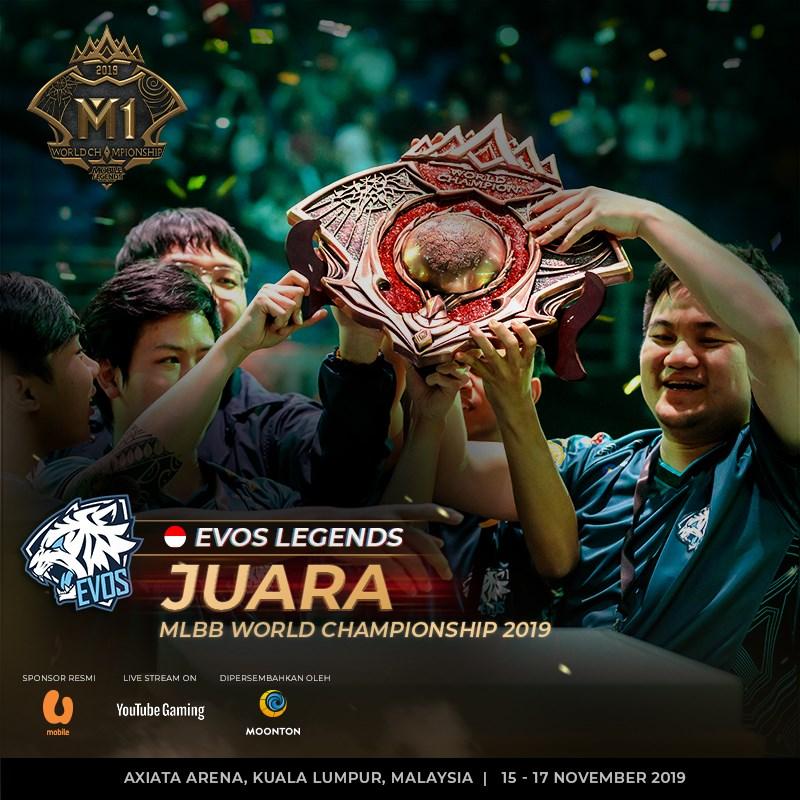 Evos Membawa Indonesia Juara Dunia Mobile Legend M1 2019