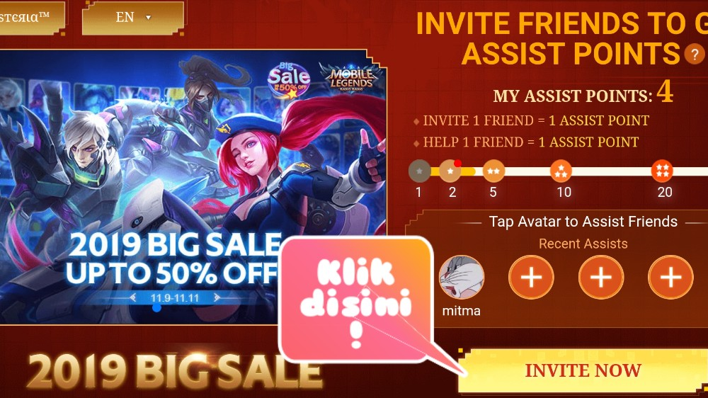 Moonton Baik! Bagi Bagi 2 Skin Epic Gratis Mobile Legend