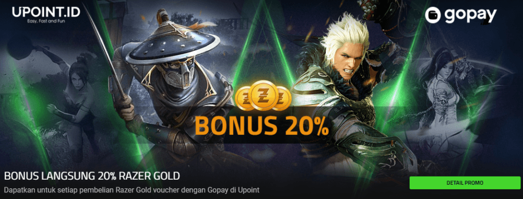 Razer Gold Payment channel Indonesia Favorit 2019