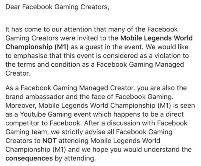 Facebook Larang FB Gaming Creator hadir di M1