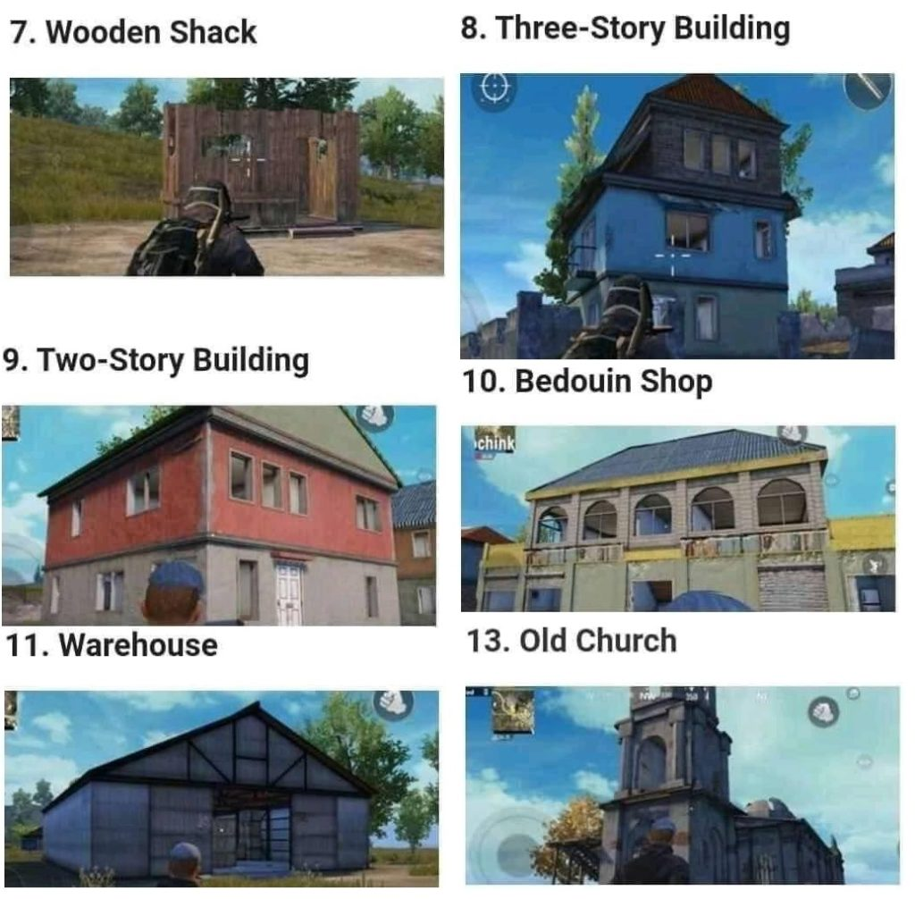 Cheat Sheet PUBGM kenali 25 Daftar nama bangunan demi taktik