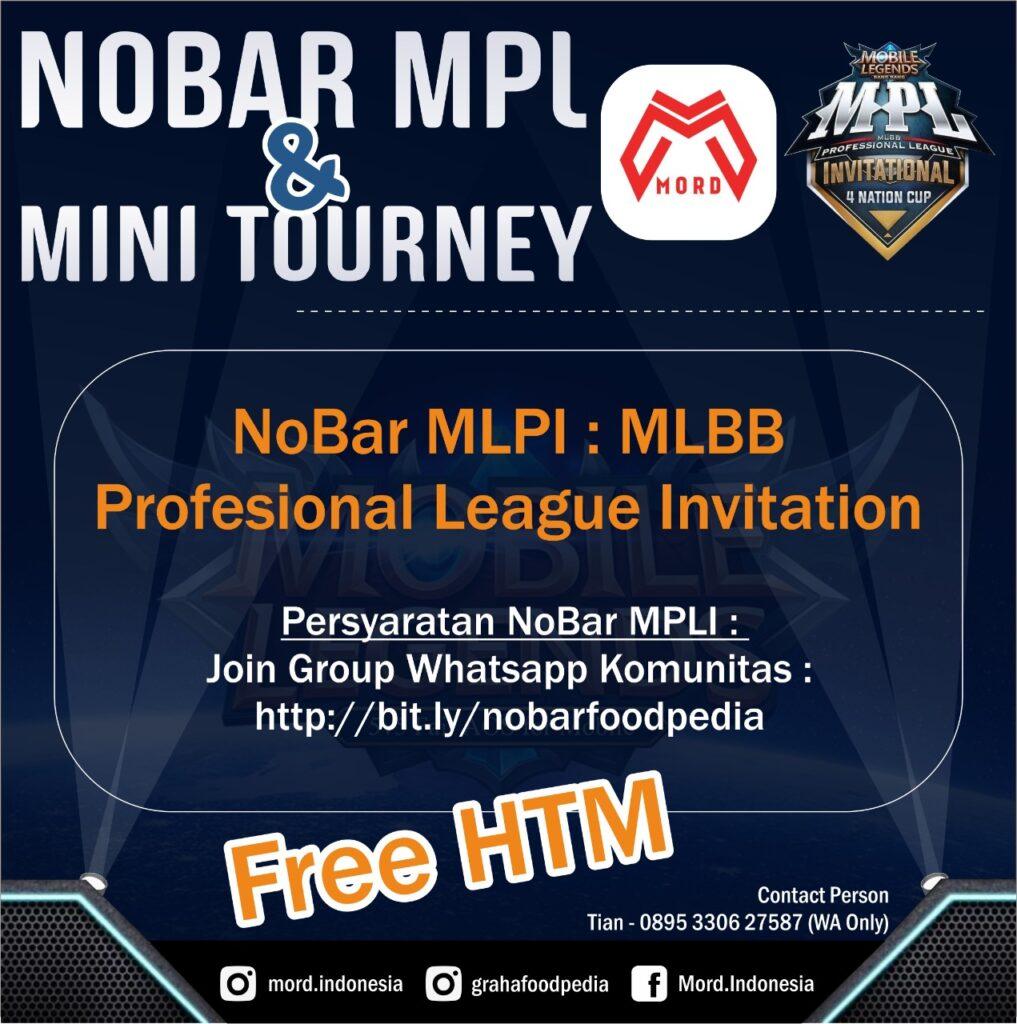Komunitas MorD Ajak Gamer Nobar Mobile legends Professional League Invitational di Foodpedia