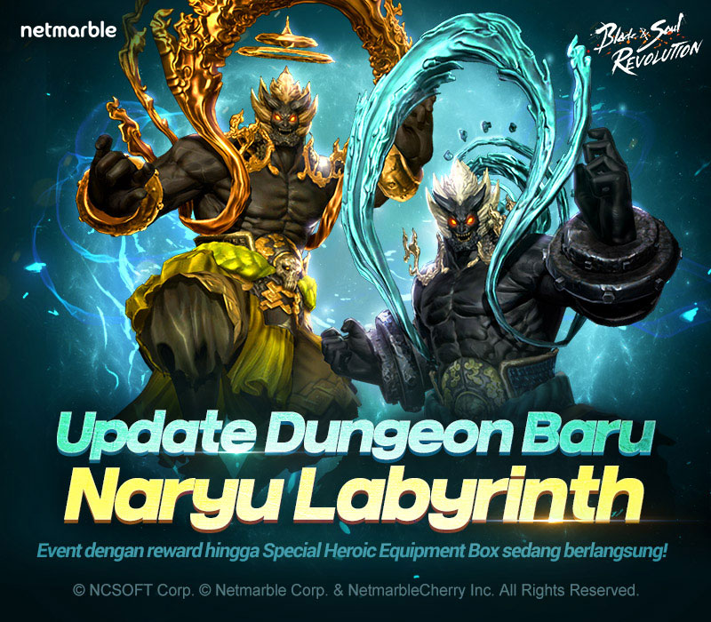 "Dungeon Baru ""Naryu Labyrinth"" & Event Baru di Blade & Soul Revolution"